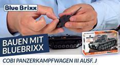 YouTube: Bauen mit BlueBrixx - Panzerkampfwagen III Ausf. J von Cobi