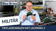 YouTube: Tiefladewagen mit Leopard 2 von BlueBrixx