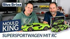 YouTube: Supersportwagen in hellgrün (motorisiert) von Mould King @ BlueBrixx