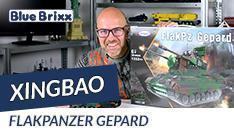 YouTube: Flakpanzer Gepard von Xingbao @ BlueBrixx