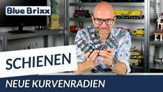 Youtube: Eisenbahn-Preview mit Klaus: bald neue Kurvenradien bei BlueBrixx!