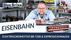 Youtube: Elektrolokomotive BB 7200 & Expresszugwagen von BlueBrixx