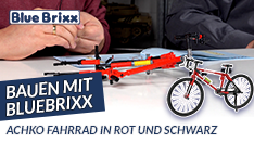 Youtube: Bauen mit BlueBrixx - Fahrrad in rot und schwarz von Achko