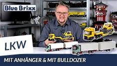 Youtube: LKW mit Anhänger & mit Bulldozer von BlueBrixx