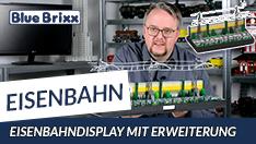 YouTube: Eisenbahndisplay in 3 Segmenten von BlueBrixx - mit dem Erweiterungsset!