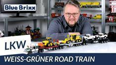 Youtube: Weiß-grüner Road Train von BlueBrixx - 106 cm LKW-Bauspaß!