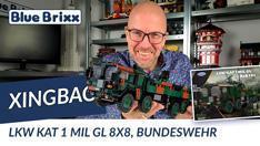 Youtube: Bundeswehr LKW Kat 1 Mil GL 8x8 von Xingbao @ BlueBrixx