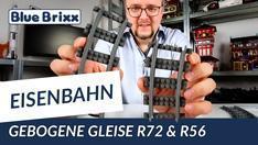 YouTube: Neue Schienenradien: Gebogene Gleise R56 & R72 von BlueBrixx