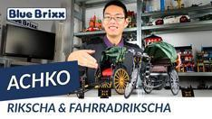 YouTube: Rikscha & Fahrradrikscha von Achko @BlueBrixx