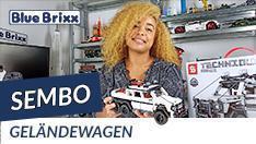 YouTube: Geländewagen von Sembo @BlueBrixx - mit Pullback-Funktion