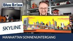 Youtube: Manhattan-Skyline bei Sonnenuntergang - ein Wandbild von BlueBrixx