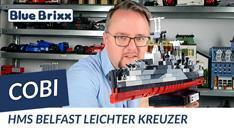 Youtube: Leichter Kreuzer HMS Belfast von Cobi @ BlueBrixx