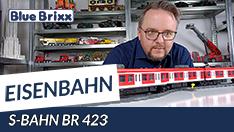 Youtube: S-Bahn BR 423 von BlueBrixx - motorisierbar und 1,33 Meter lang!