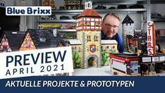 Youtube: Preview-Special April 2021 - viele neue Prototypen @ BlueBrixx