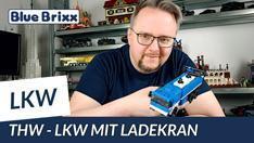 Youtube: Technisches Hilfswerk - LKW mit Ladekran von BlueBrixx