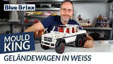 Youtube: Geländewagen in weiß von Mould King @ BlueBrixx - ein echtes Technik-Highlight!