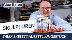 YouTube: T-Rex Skelett Ausstellungsstück von BlueBrixx