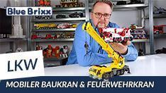 Youtube: Mobiler Baukran & Feuerwehrkran von BlueBrixx