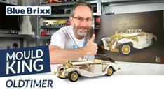 Youtube: Oldtimer von Mould King @ BlueBrixx - ein Fest in Weiß und Chrom-Gold!