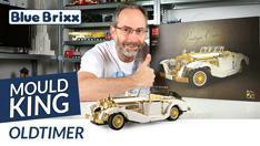 Youtube: Oldtimer von Mould King @ BlueBrixx - ein Fest in Weiß und Chrom-Gold!