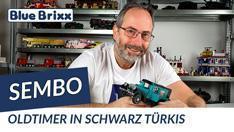 Youtube: Oldtimer in schwarz & türkis von Sembo @ BlueBrixx