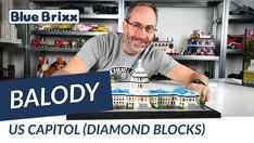 Youtube: US Capitol aus Diamond Blocks von Balody @ BlueBrixx