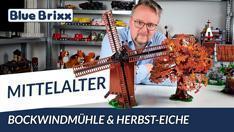 Youtube: Bockwindmühle & Herbst-Eiche von BlueBrixx - mit Ausblick auf neue Mittelalter-Sets!