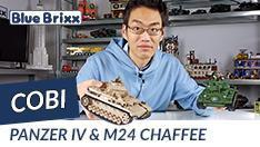 YouTube: Panzerkampfwagen IV Ausf. G & Panzer U.S. Army M24 Chaffee von Cobi @ BlueBrixx