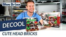 Youtube: Cute Head Bricks von Decool @ BlueBrixx - mit Geschichtsstunde von Ouxi Li!