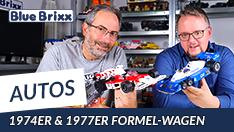 YouTube: Formel Wagen 74er & 77er von BlueBrixx - mit Ausblick auf weitere Modelle!