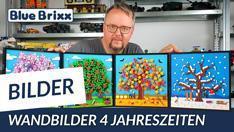 Youtube: 4 Jahreszeiten als Wandbilder von BlueBrixx - Frühling, Sommer, Herbst & Winter!