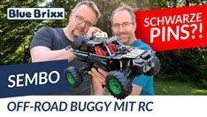 Youtube: Off-Road-Buggy von Sembo @ BlueBrixx - exklusiv mit schwarzen Pins!