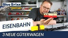 Youtube: Kesselwagen, Gepäckwagen & Langtransportwagen von BlueBrixx
