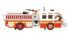 How to apply the stickers of New York fire engines
