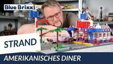 YouTube: Amerikanisches Diner von BlueBrixx - unser Stranddiorama wird größer!