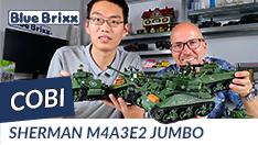 YouTube: Sherman M4A3E2 Jumbo von Cobi @ BlueBrixx