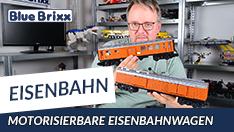YouTube: Motorisierbare Eisenbahnwagen von BlueBrixx
