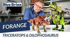 YouTube: Triceratops & Dilophosaurus von Forange @ BlueBrixx - mit Soundmodul!