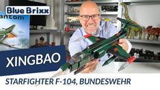 YouTube: Starfighter F 104, Bundeswehr von Xingbao @ BlueBrixx