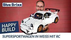 YouTube: Supersportwagen in weiß mit RC von Happy Build @ BlueBrixx - mit Probefahrt auf der Teststrecke!