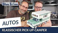 YouTube: Klassischer Pick-Up Camper von BlueBrixx