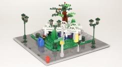 """Prototyp unseres ersten modularen """"Gebäudes"""""""