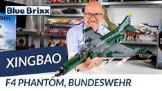 Youtube: F4 Phantom der Bundeswehr von Xingbao @ BlueBrixx - stolze 63 Zentimeter lang!