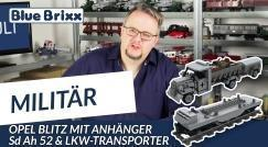 Youtube: Opel Blitz with trailer Sd Ah 52 & truck transporter by BlueBrixx