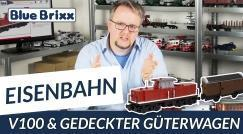 Youtube: V100 und gedeckter Güterwagen von BlueBrixx