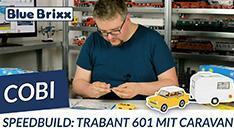 Youtube: Trabant 601 with caravan by Cobi @ BlueBrixx - with speedbuild!