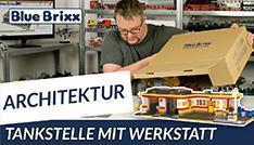 Youtube: Tankstelle mit Werkstatt von BlueBrixx