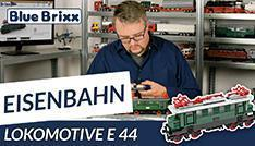 Youtube: Lokomotive E44 von BlueBrixx