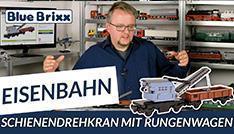 Youtube: Schienendrehkran mit Rungenwagen von BlueBrixx