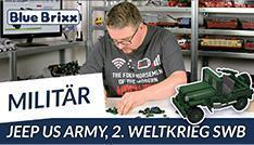 Youtube: Jeep der US-Army, Short Wheel Base von BlueBrixx - mit Speedbuild!